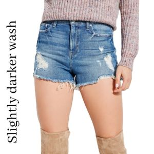 Guess high waisted distressed jean shorts